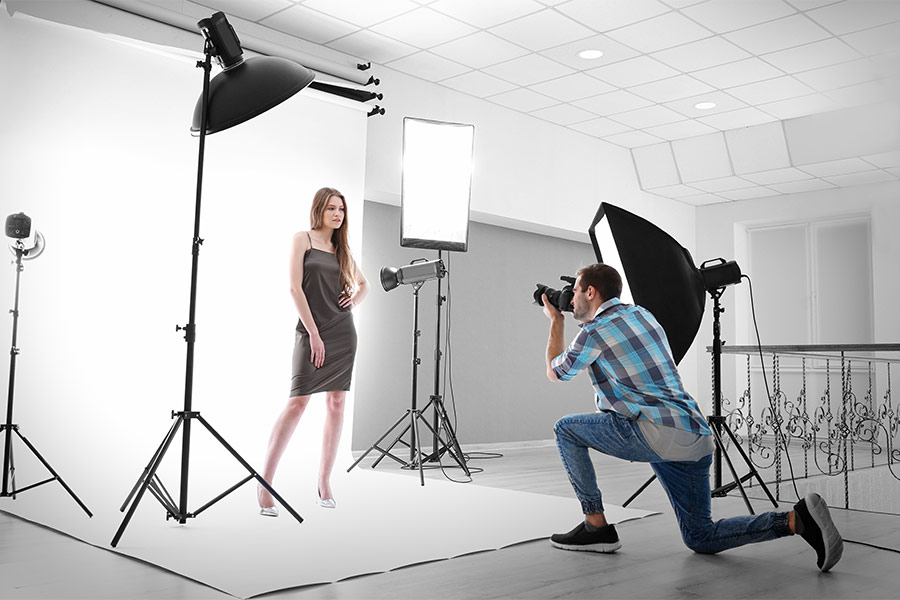 Female Model in Photographic Studio
